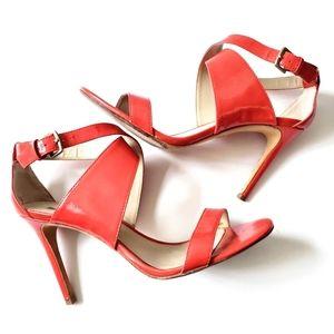 Charles Davis Icon Coral Patent Sandals
